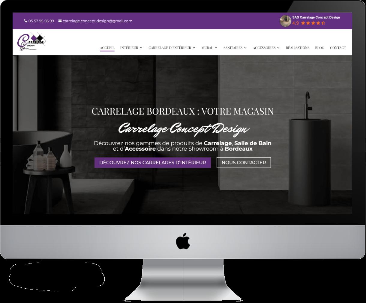 Création site carrelage Castelnaudary | Carrelage Concept Design